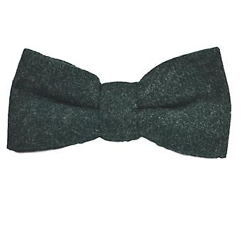 Luxury Hunter Green Donegal Tweed Bow Tie