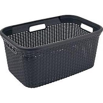 Curver Rattan laundry basket 45 L anthracite
