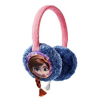 Disney Frozen Frost earmuffs Anna and Elsa with pigtails Blue/Pink