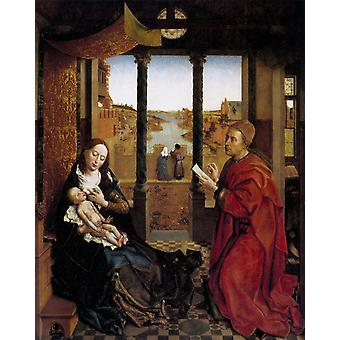Saint Luke Drawing the Virgin and, Roger Van Der Weyden, 50x40cm