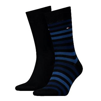 Tommy Hilfiger 2 Pack Duo Stripe Sock - Mörk marinblå