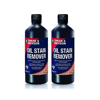 2 x 500ml Oil Stain Remover on driveway, path and patio by Spear and Jackson
