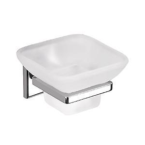 Gedy Colorado Glass Soap Dish Chrome Fr Glass 6911 13
