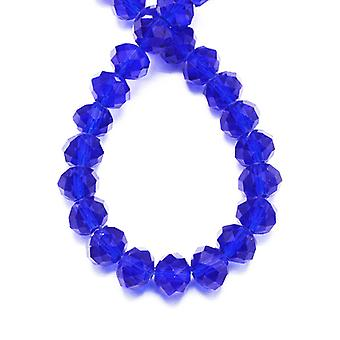Strand 95+ Dark Blue Czech Crystal Glass 4 x 6mm Faceted Rondelle Beads HA20595
