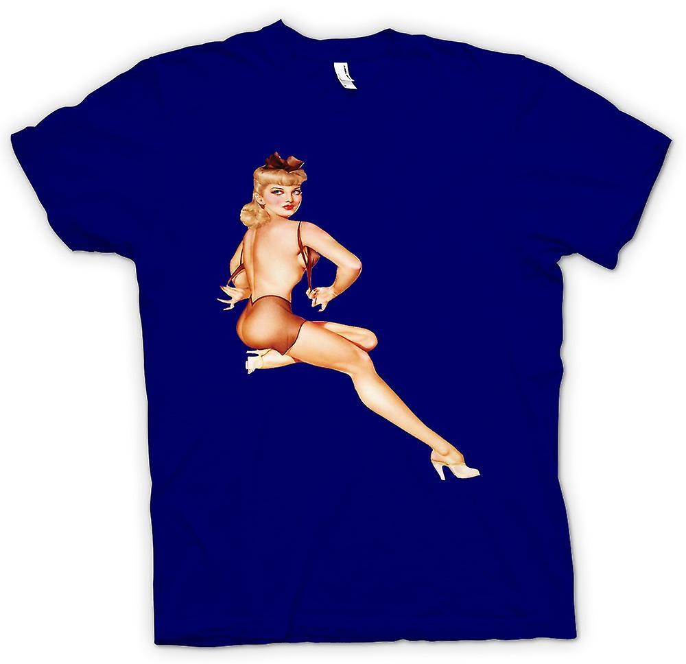 Herr T-shirt - BH på - Vintage Pinup