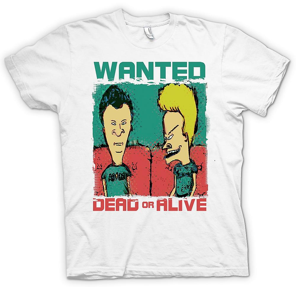 Heren T-shirt - Beavid en Butthead - Wanted Dead Or Alive