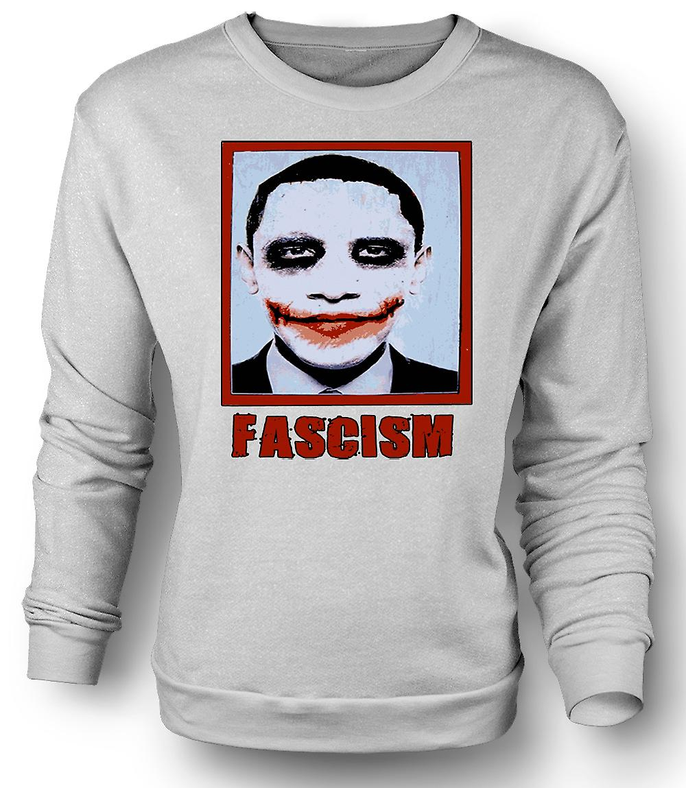 Mens Sweatshirt Obama Fascism