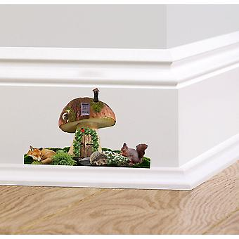Full Colour Toadstool Fairy Door Wall Sticker