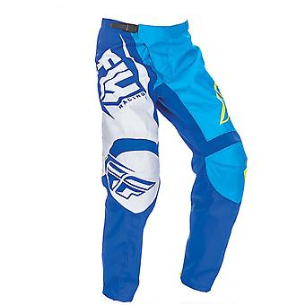 Fly Racing Blue-Black-Hi-Vis F-16 Kids MX Pant