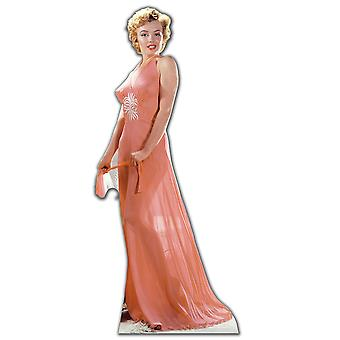 Marilyn Monroe iført fersken nattkjole / Evening Dress - Lifesize papp åpning / Standee