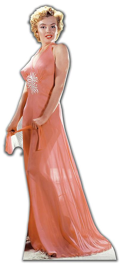 Marilyn Monroe wearing Peach Night Gown / Evening Dress - Lifesize Cardboard Cutout / Standee