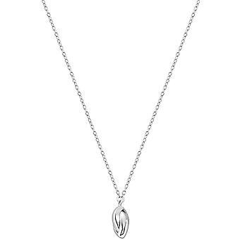 Bella Solit Oval Drop Necklace - Silver