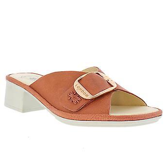 Womens Fly London Elax Janeda Leather Block Heel Open Toe Buckle Sandals