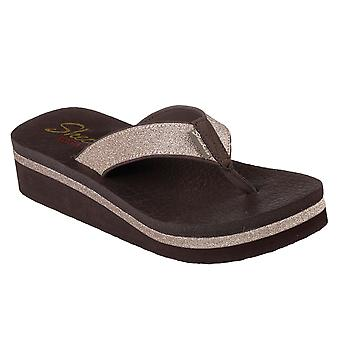 dd2c2f9e724b Womens Skechers Vinyasa Unicorn Mist Low Wedge Cushioned Sandal Flip Flop