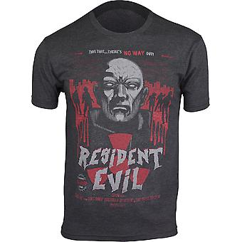 Capcom Mens Resident Evil B-Movie Poster T-Shirt - Vintage Black