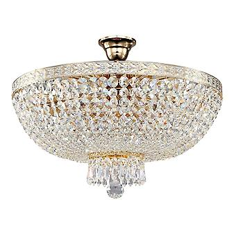 Maytoni Lighting Bella Diamant Crystal Ceiling Lamp, White Gold