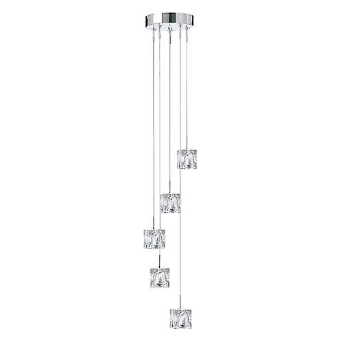 Searchlight 6775-5 Ice Cube 5 Light Pendant Fitting With Dingle Dangle Style