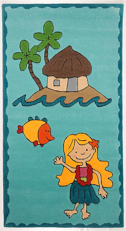 Rugs - Children\'s Turquoise Island Beach - 3477