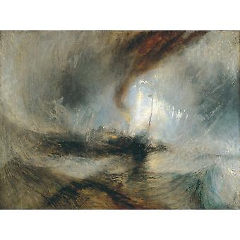 Snow Storm--Steam Boat off a Harbour's, J.M.W. Turner, 50x37cm