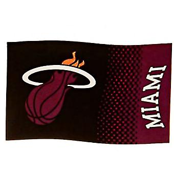 Miami Heat Large NBA Logo Fade Flag (bst)