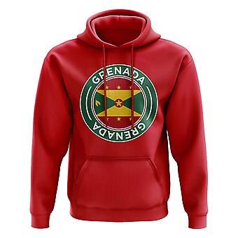 Grenada Football Badge Hoodie (Red)