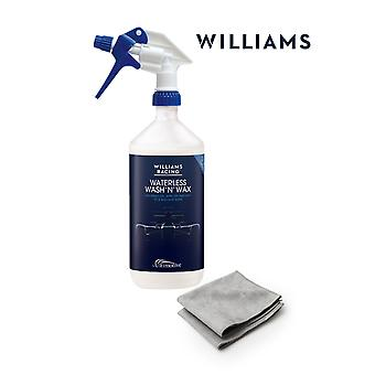 Williams Waterless umyć i wosk zestaw startowy 1L z 2 tkaniny z mikrofibry