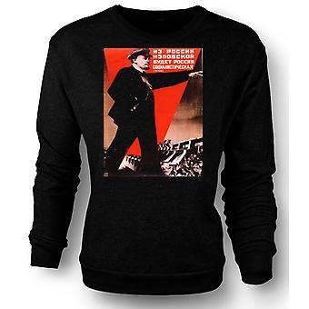Womens Sweatshirt Lenin russisk propaganda plakat