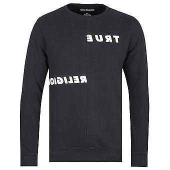 True Religion Mirror Logo Black Sweatshirt