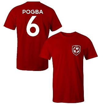 Paul Pogba 6 Manchester United Style Player Kids T-Shirt