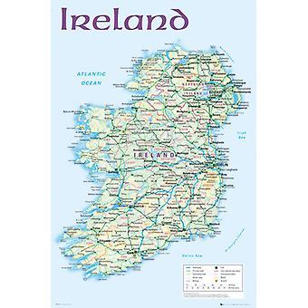 Irlanda mapa 2012 Maxi cartaz 61x91.5cm