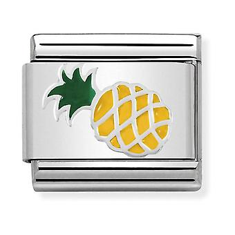 Nomination Classic Pineapple Steel, Enamel and 925 Silver Link Charm 330202/45