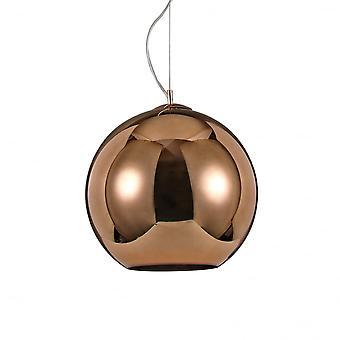 Ideal Lux Nemo Copper Single Pendant Light D40