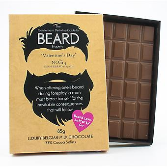 Funny Valentine's Day Gift for Bearded Men Beard Lover Present Chocolate Greeting Card BTQ118
