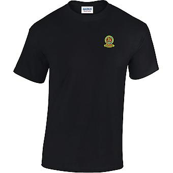 15th 19th Royal Kings Hussars farve-licenseret British Army broderet tung bomuld T-shirt
