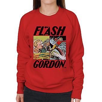 Flash Gordon Action Comic Montage Women's Sweatshirt