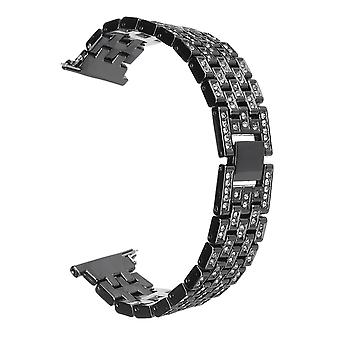 12mm replacement stainless steel diamond wrist watch band strap for fitbit versa