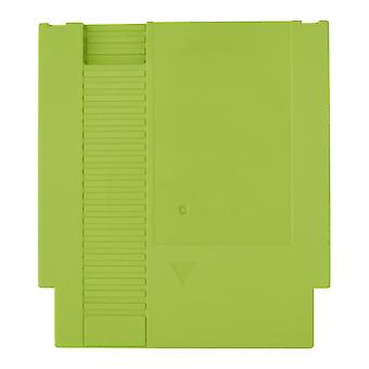 Compatible replacement game cartridge shell case for nintendo nes - green