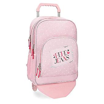 Pepe Jeans Olaia Pink Backpack 45 cm with Trolley -Double Compartment