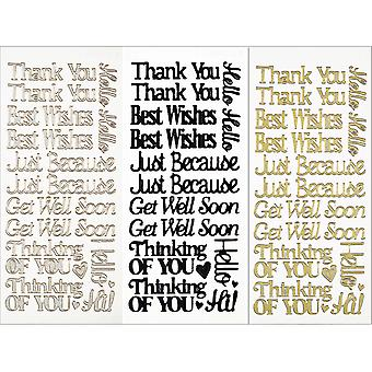 Dazzles Stickers 3 Pkg Everyday Greetings Daz12 2505