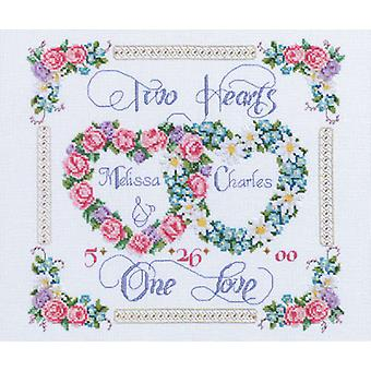 Two Hearts, One Love Counted Cross Stitch Kit 14