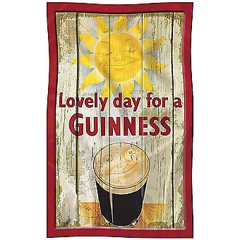 Guinness Sun / Smiling Face Cotton Tea Towel  700mm x 450mm  (sg)