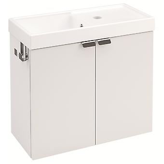 Bath+ Sink cabinet 2 Doors With Matt White 50CM