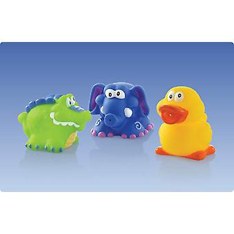 Nuby 3 Pack - Animals Bath (Babies , Health And Hygiene , Bath , Bath Toys)