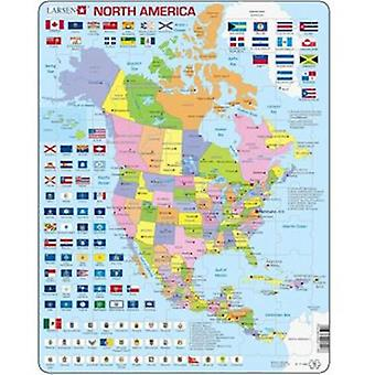 Larsen Large North America Political Puzzle (Kids , Toys , Table games , Puzzles)