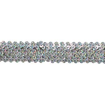 3 Row Stretch Sequin Trim 1-1/4