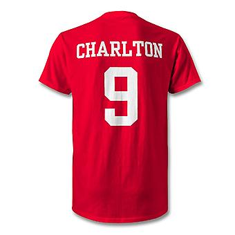 Bobby Charlton Man Utd legende held T-Shirt