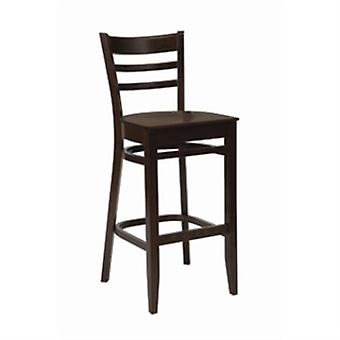 Tania Walnut Frame Finish Bar Stool With Back Fully Assembled