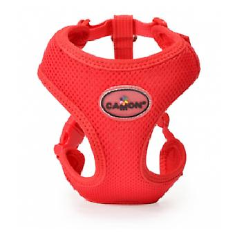 Camon Harness Double Mesh Adjustable Red (Dogs , Walking Accessories , Harnesses)