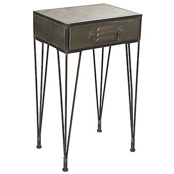 Wellindal Mesita Metal 1 cajón (Home , Living and dining room , Tables , Auxiliary)