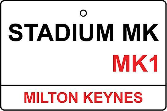 Mk Dons Stadium Street Sign Car Air Freshener